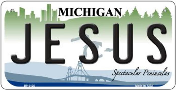 Jesus Michigan Novelty Metal Bicycle Plate BP-6125