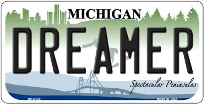 Dreamer Michigan Novelty Metal Bicycle Plate BP-6126