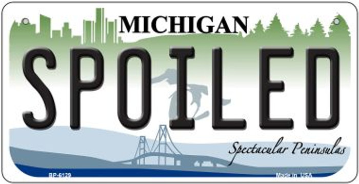 Spoiled Michigan Novelty Metal Bicycle Plate BP-6129