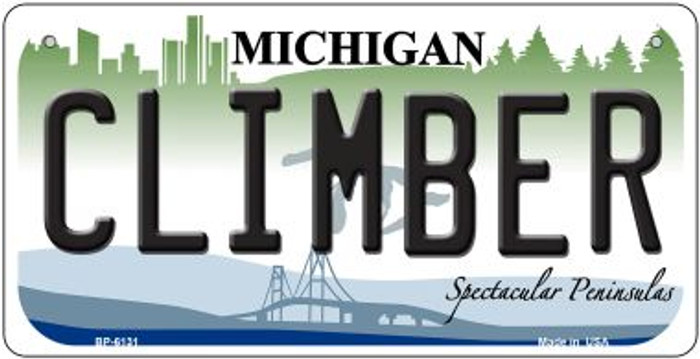 Climber Michigan Novelty Metal Bicycle Plate BP-6131