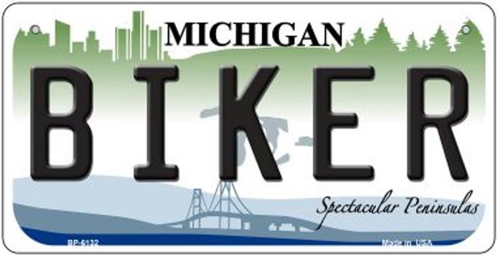 Biker Michigan Novelty Metal Bicycle Plate BP-6132