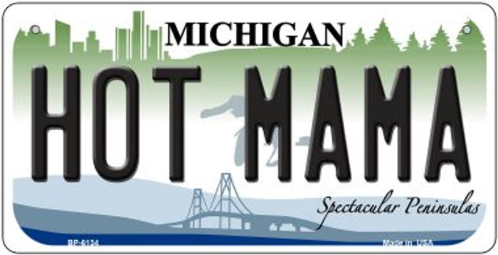 Hot Mama Michigan Novelty Metal Bicycle Plate BP-6134