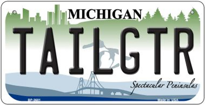 Tailgtr Michigan Novelty Metal Bicycle Plate BP-3681