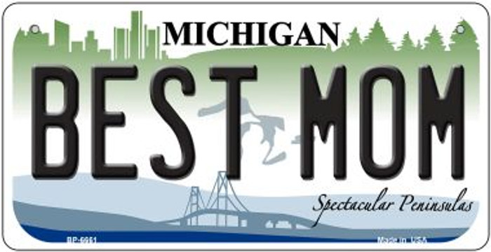 Best Mom Michigan Novelty Metal Bicycle Plate BP-6661