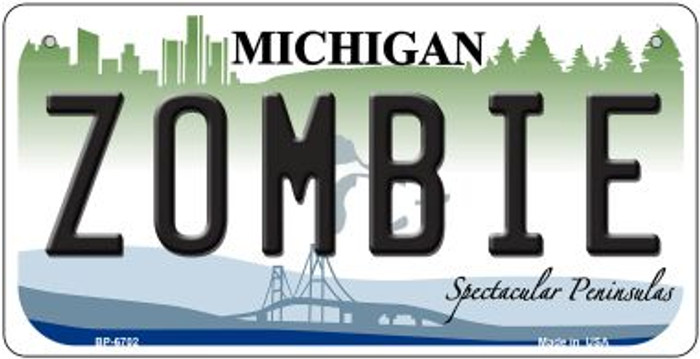 Zombie Michigan Novelty Metal Bicycle Plate BP-6702