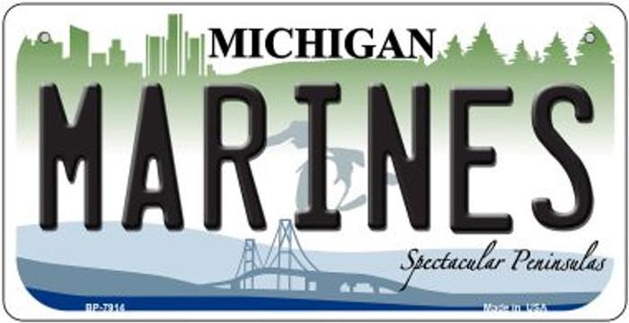 Marines Michigan Novelty Metal Bicycle Plate BP-7914