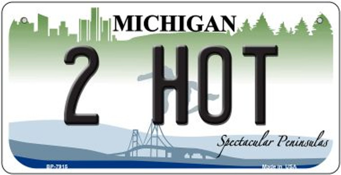 2 Hot Michigan Novelty Metal Bicycle Plate BP-7915