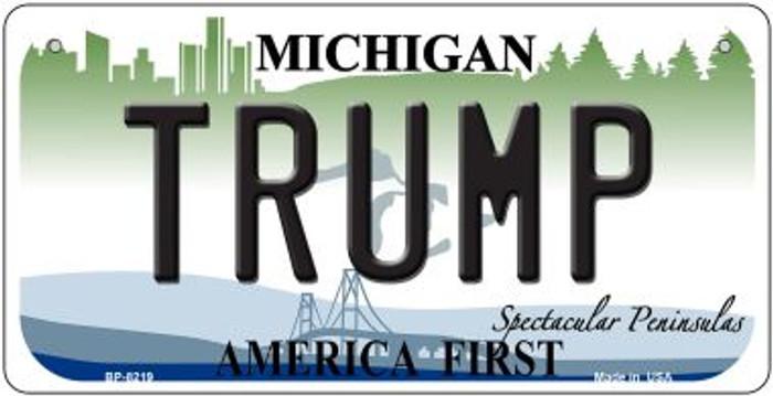 Trump Michigan Novelty Metal Bicycle Plate BP-8219