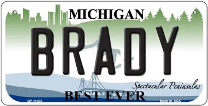 Brady Michigan Novelty Metal Bicycle Plate BP-11025