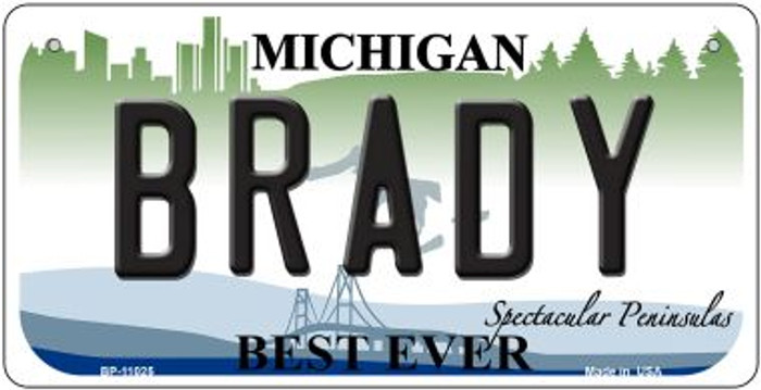 Brady Michigan Novelty Metal Bicycle Plate BP-11025