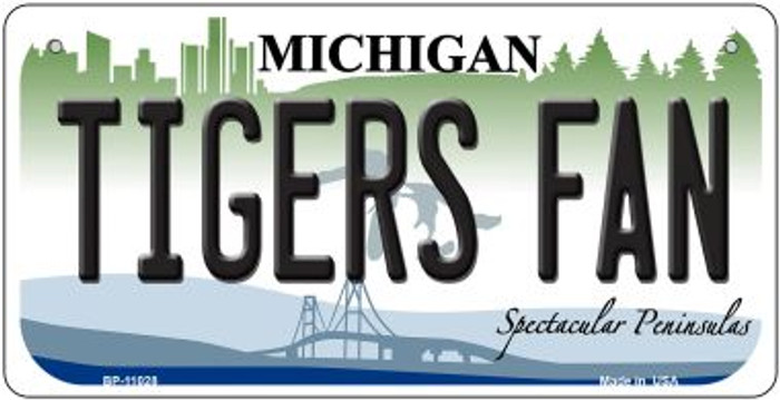 Tigers Fan Michigan Novelty Metal Bicycle Plate BP-11028