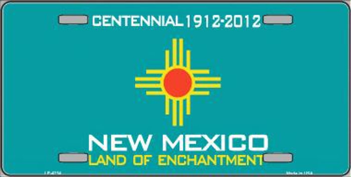 New Mexico Novelty State Background Metal License Plate LP-4214