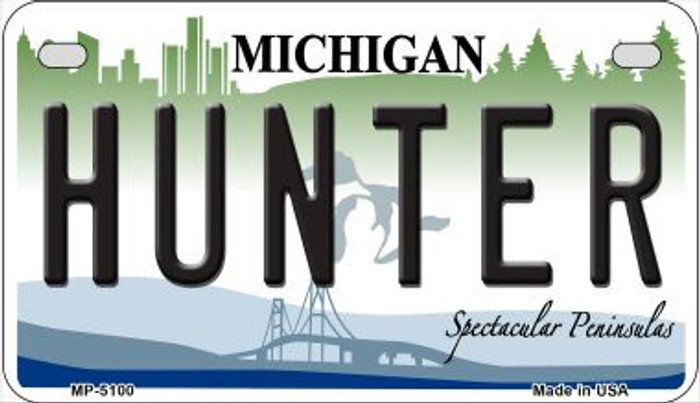 Hunter Michigan Novelty Metal Motorcycle Plate MP-5100