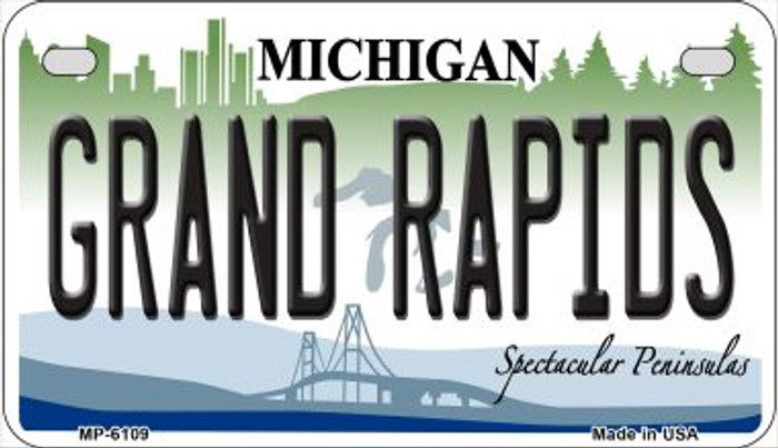 Grand Rapids Michigan Novelty Metal Motorcycle Plate MP-6109