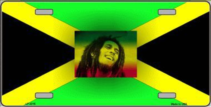 Jamaica Flag Bob Marley Metal Novelty License Plate LP-4215
