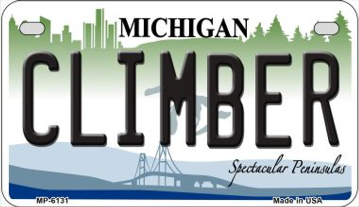Climber Michigan Novelty Metal Motorcycle Plate MP-6131