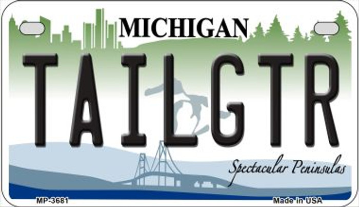 Tailgtr Michigan Novelty Metal Motorcycle Plate MP-3681