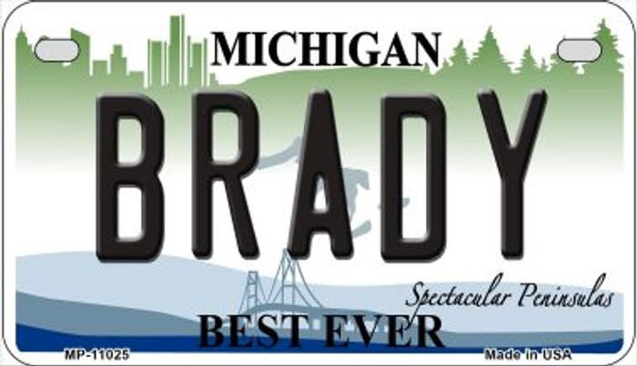 Brady Michigan Novelty Metal Motorcycle Plate MP-11025