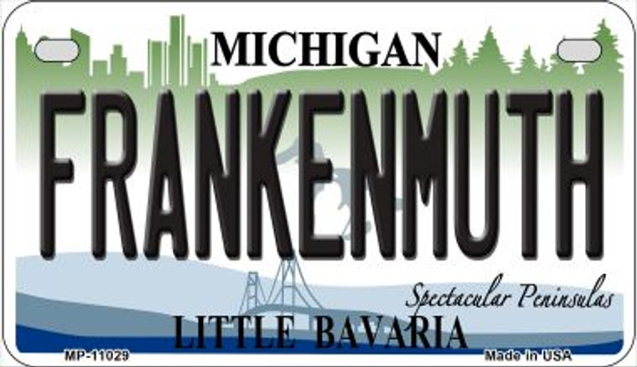Frankenmuth Michigan Novelty Metal Motorcycle Plate MP-11029