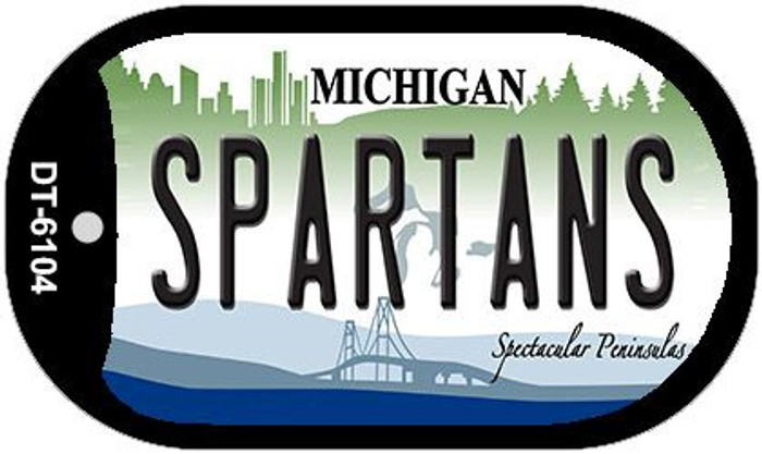 Spartans Michigan Novelty Metal Dog Tag Necklace DT-6104