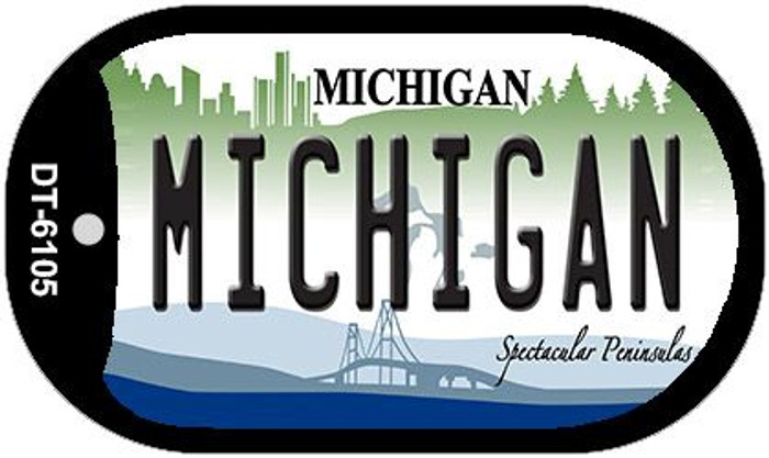 Michigan Novelty Metal Dog Tag Necklace DT-6105