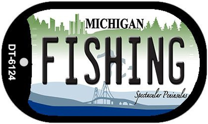 Fishing Michigan Novelty Metal Dog Tag Necklace DT-6124