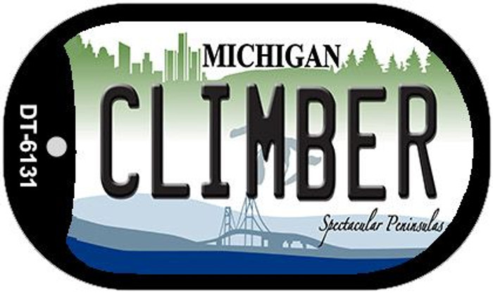 Climber Michigan Novelty Metal Dog Tag Necklace DT-6131