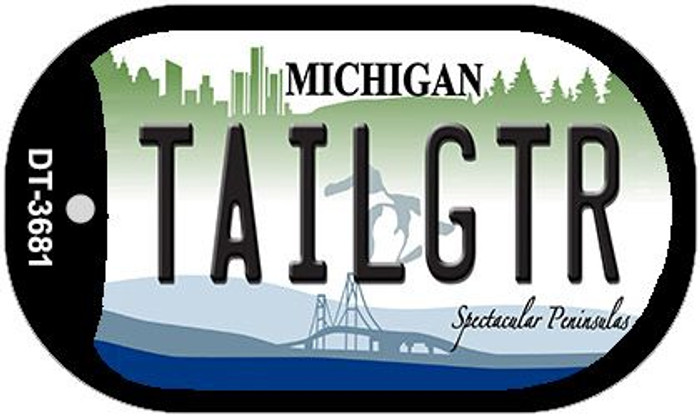 Tailgtr Michigan Novelty Metal Dog Tag Necklace DT-3681