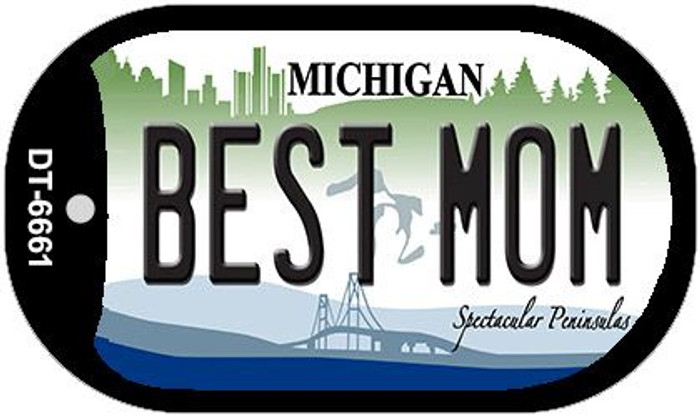 Best Mom Michigan Novelty Metal Dog Tag Necklace DT-6661