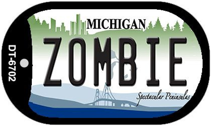 Zombie Michigan Novelty Metal Dog Tag Necklace DT-6702