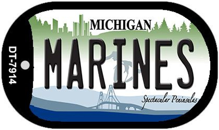 Marines Michigan Novelty Metal Dog Tag Necklace DT-7914