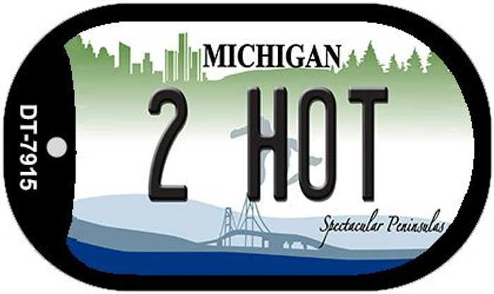2 Hot Michigan Novelty Metal Dog Tag Necklace DT-7915