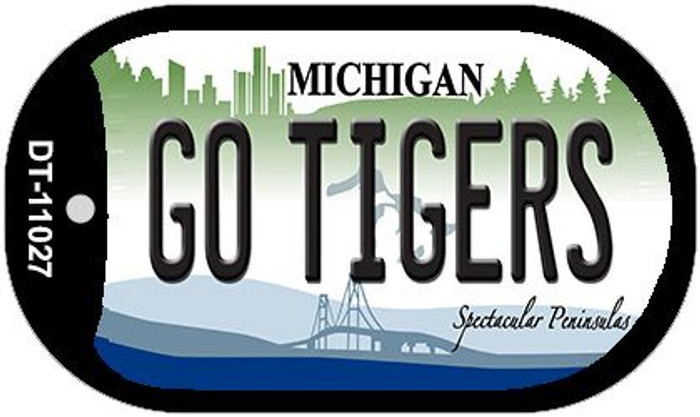 Go Tigers Michigan Novelty Metal Dog Tag Necklace DT-11027