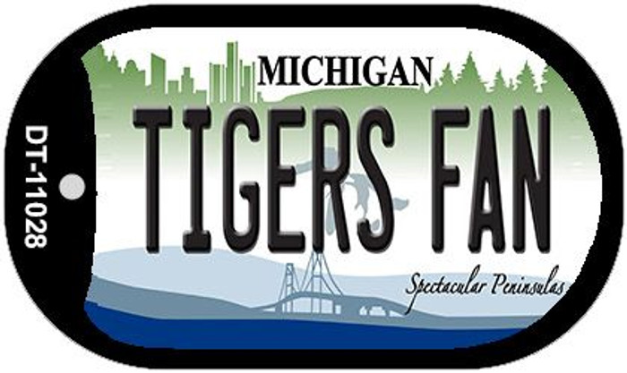 Tigers Fan Michigan Novelty Metal Dog Tag Necklace DT-11028
