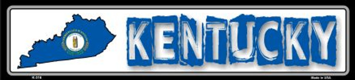 Kentucky State Outline Novelty Metal Vanity Small Street Sign