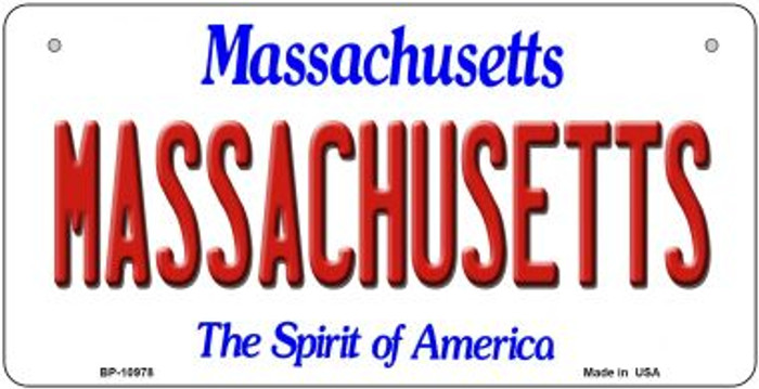 Massachusetts Novelty Metal Bicycle Plate BP-10978