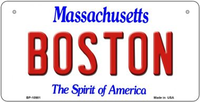 Boston Massachusetts Novelty Metal Bicycle Plate BP-10981