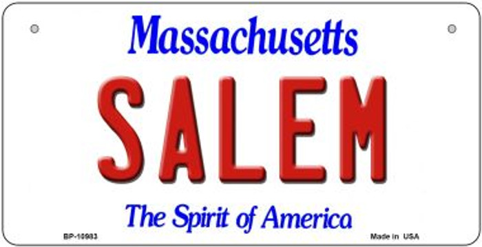 Salem Massachusetts Novelty Metal Bicycle Plate BP-10983