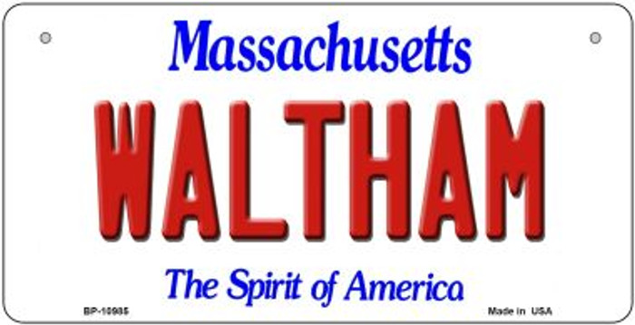 Waltham Massachusetts Novelty Metal Bicycle Plate BP-10985