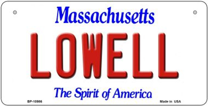 Lowell Massachusetts Novelty Metal Bicycle Plate BP-10986