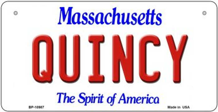 Quincy Massachusetts Novelty Metal Bicycle Plate BP-10987