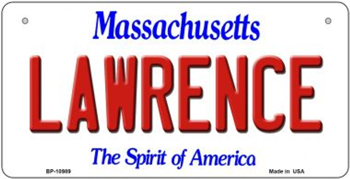 Lawrence Massachusetts Novelty Metal Bicycle Plate BP-10989