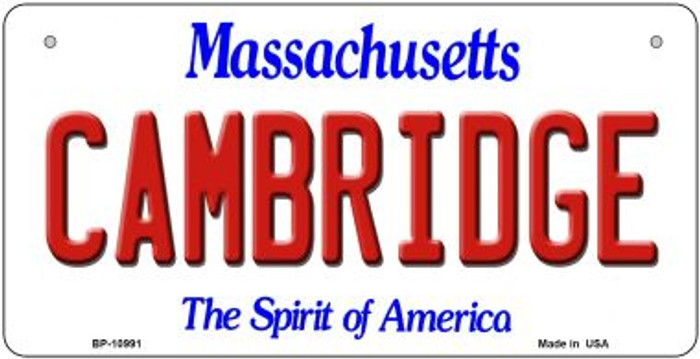 Cambridge Massachusetts Novelty Metal Bicycle Plate BP-10991