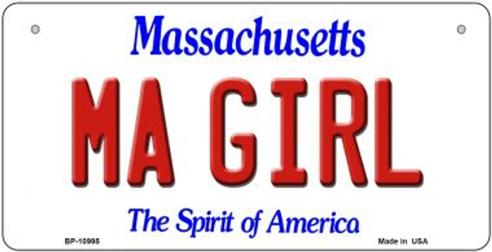 MA Girl Massachusetts Novelty Metal Bicycle Plate BP-10995