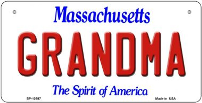 Grandma Massachusetts Novelty Metal Bicycle Plate BP-10997