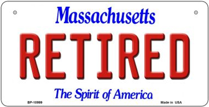 Retired Massachusetts Novelty Metal Bicycle Plate BP-10999