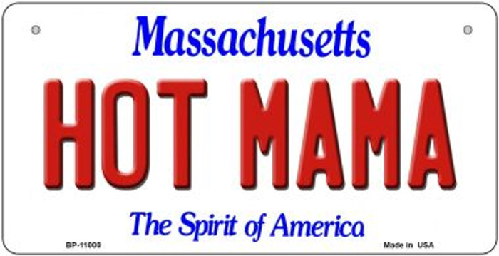 Hot Mama Massachusetts Novelty Metal Bicycle Plate BP-11000