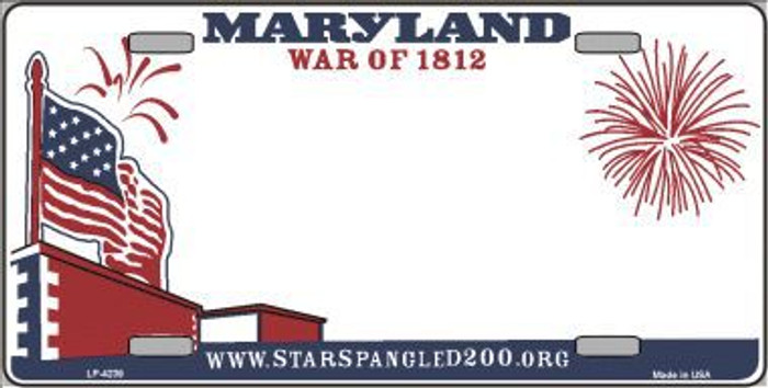 Maryland State Background Novelty Metal License Plate LP-4239