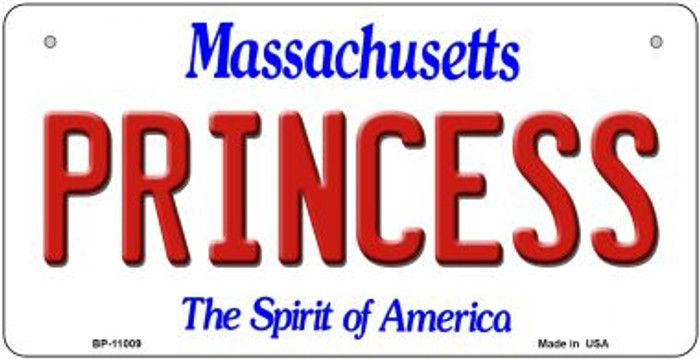 Princess Massachusetts Novelty Metal Bicycle Plate BP-11009
