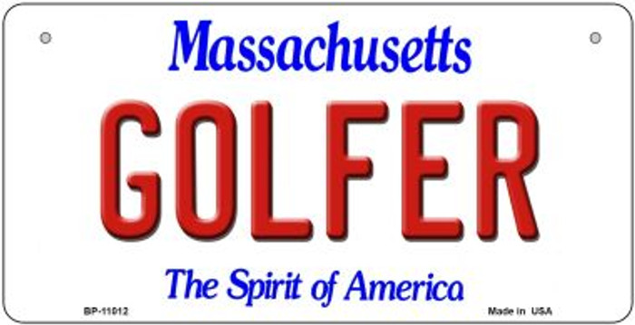 Golfer Massachusetts Novelty Metal Bicycle Plate BP-11012